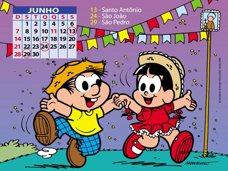 Calendário 2014 Turma da Mônica para imprimir