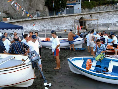 Un gruppo di associati di rientro dalla pesca turismo