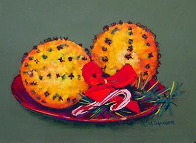 [Christmas+Orange+Pomaders+pastel+painting+resized+2.jpg]