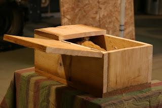 Rojo's open casket