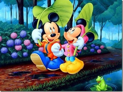 Mickey Minnie Romance Cards