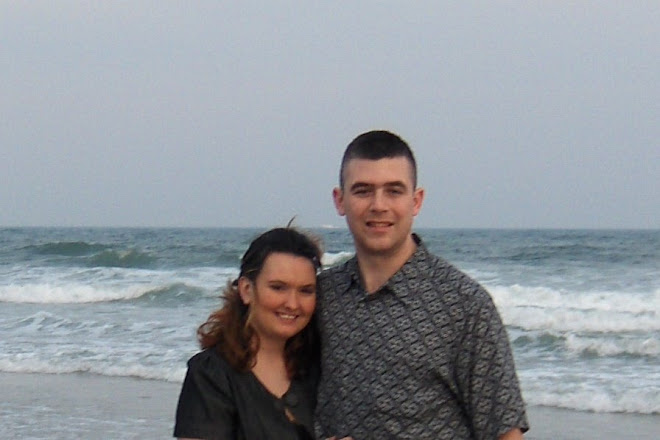 Scott and Laura at the beach in Atlantic City