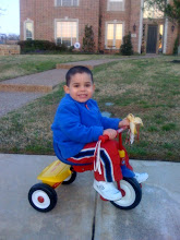 Lex on his tricycle