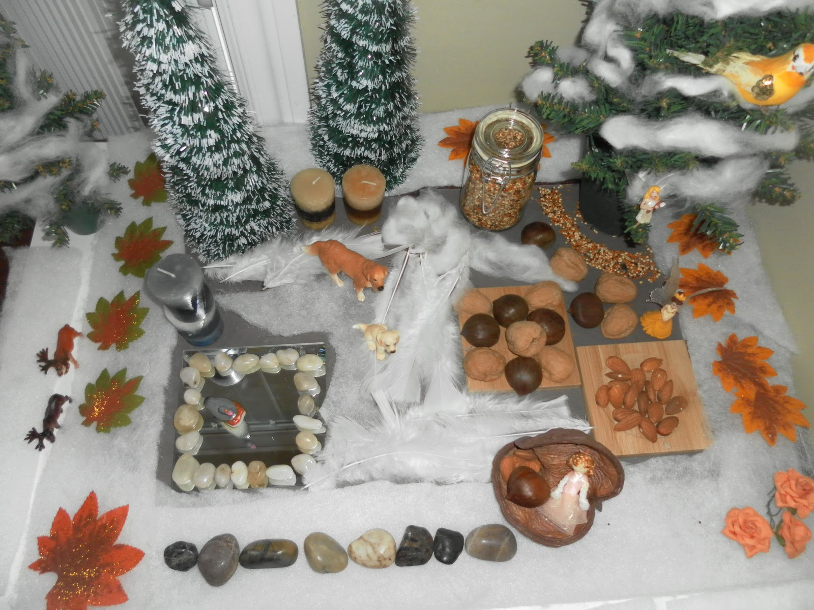 Winter nature table - Butterfly Loved It Played At Her Nature Table Quite Some Time