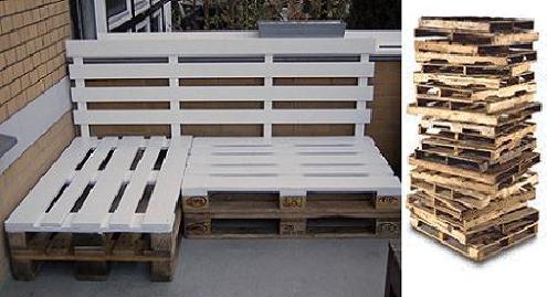Mi terraza lascafe - Bancos de palets de madera ...