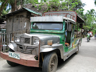 Jeepney in Mambajao, the capital of Camiguin: