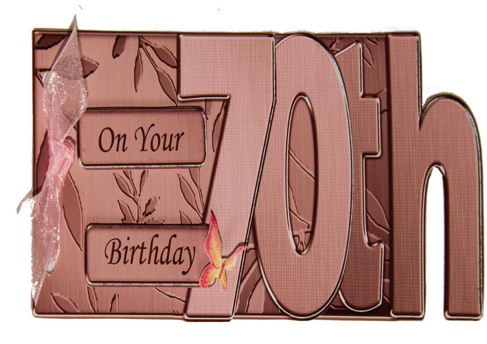 A 70th Birthday Card Designed By Carol Clark Which Is Suitable For Male Or Female