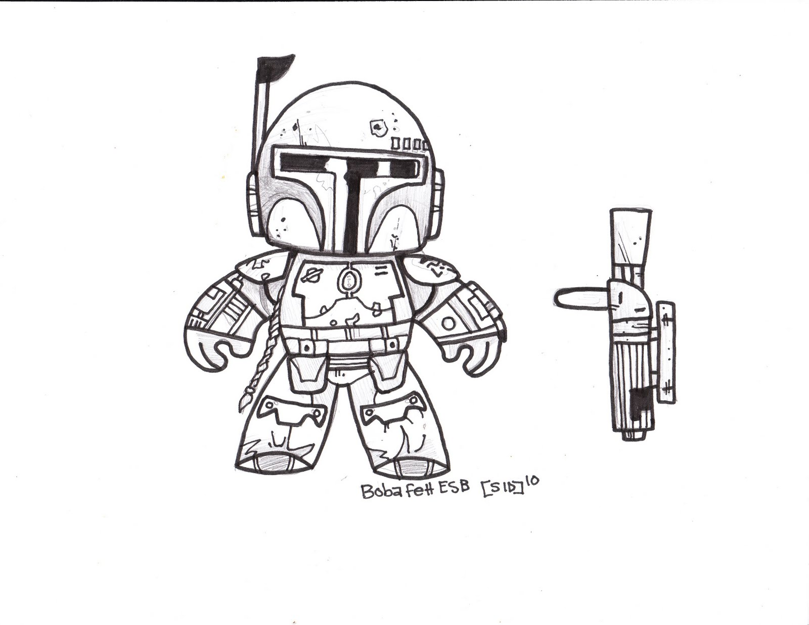 Images of Lego Boba Fett Coloring Page - #SpaceHero