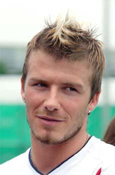 David Beckham  faux hawk hairstyle