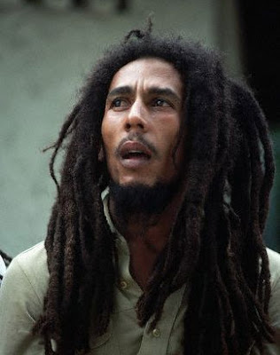 Bob Marley with his dreadlocks style . Photo by Bonita Jamaica .