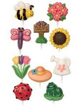 Bugs & Flower Design Lollipop Choc
