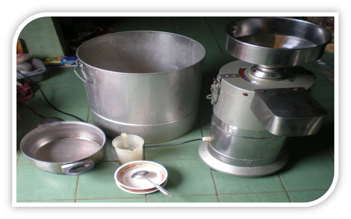Peralatan yang di gunakan untuk pembuatan susu kedelai