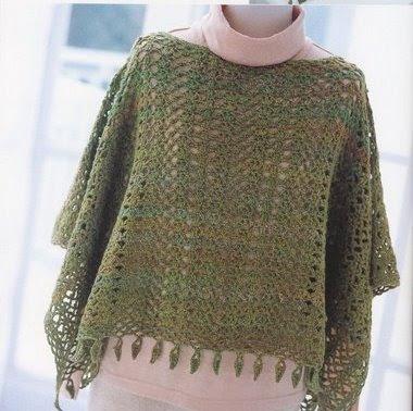 Tiempo para tejer : Poncho para mi sobrina de crochet