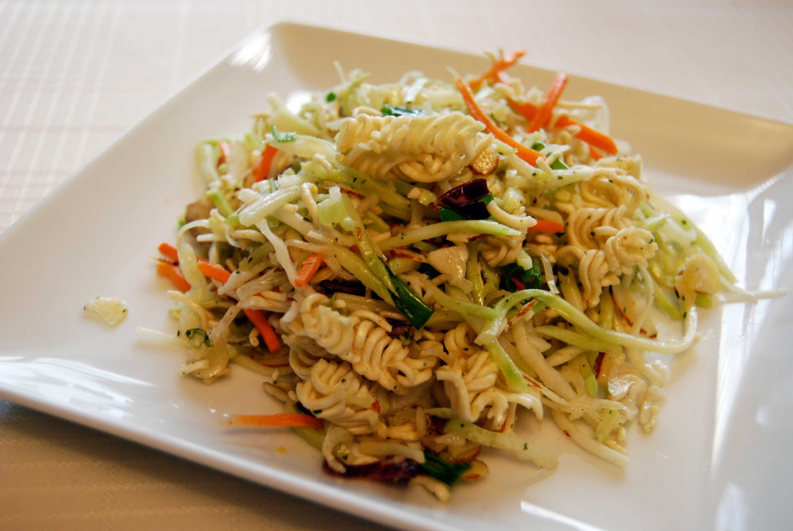 asian coleslaw salad with ramen noodles