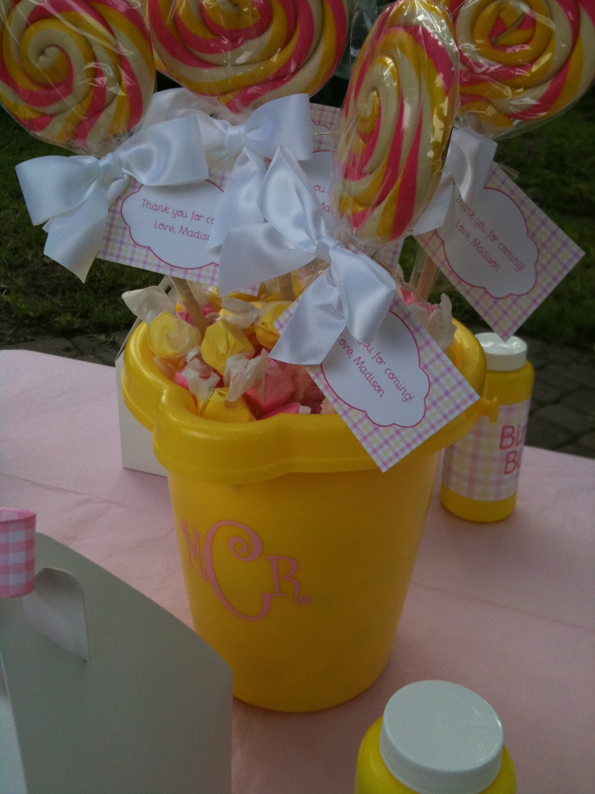 Kate landers events llc a pink yellow first birthday