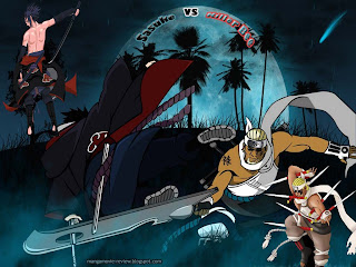 killer bee vs sasuke