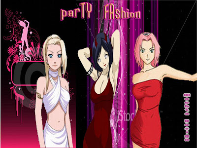sakura, hinata, ino, party fashion