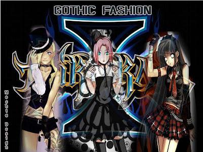sakura, hinata, ino, gothic