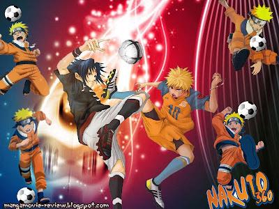 naruto play soccer