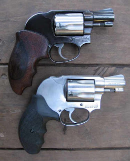 Model 38 and Model 649 with extended grips. Click to enlarge
