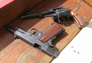 Colt M1991A1 and S&W Model 17-2 Click to enlarge