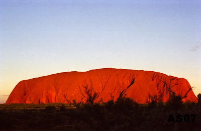 Uluru at Sunset, Australia, Aug. 2000