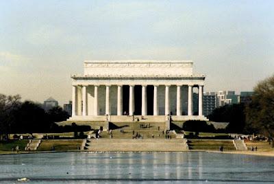 Lincoln memorial, Jan. 1990
