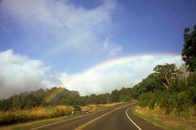 Rainbow over Haleakala Hwy, Pukalani, Maui, Sep. 2008