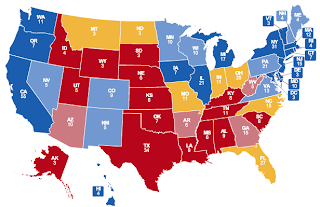 CNN Electoral Map as of 11/2/2008