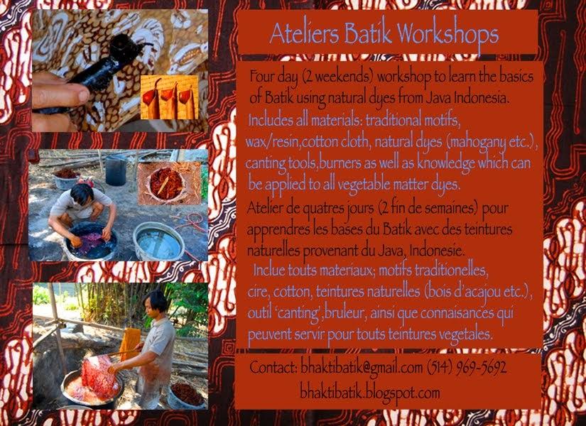 Batik Fanatik: • Batik Workshop in Montreal •