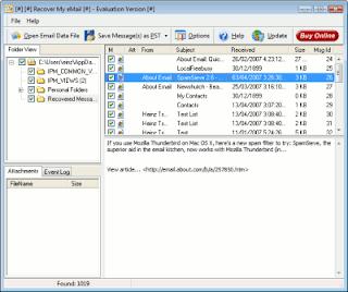 Recover My Email 4.1.2 + Crack - Recupere e-mails Deletados - 2009