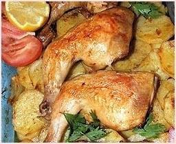 LEBANESE RECIPES: Lebanese Chicken and Potatoes