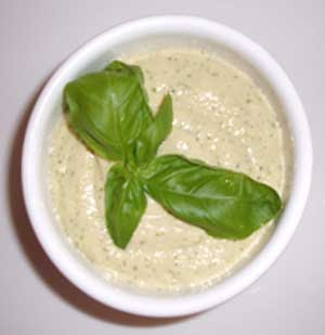 Basil Pesto Hummus - LEBANESE RECIPES