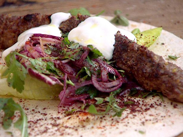 LEBANESE RECIPES: Grilled Lamb Kofta Kebabs with Pistachios and Spicy ...