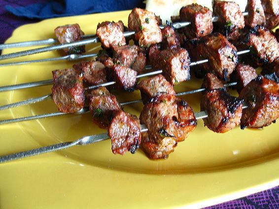 LEBANESE RECIPES: Moroccan Beef Kebab Skewers
