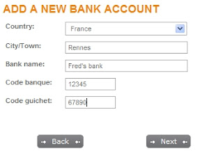 Moneybookers: add new account details