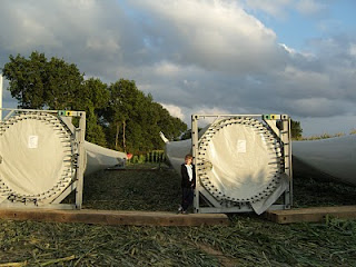 Wind turbine blades ready for installation