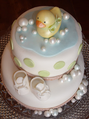 and here 39 s the cute cake that goes with the ducky cookie favors