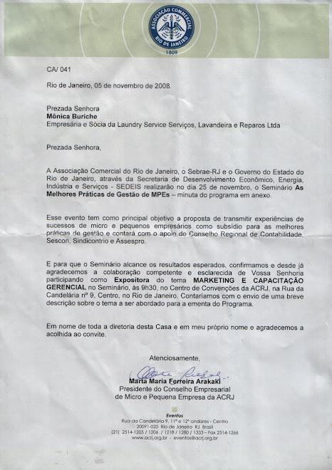 Carta do Conselho Empresarial