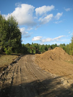 picture of site work for new driveway