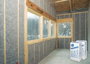 Installing Cellulose Spray In Place Wall Insulation Home