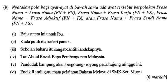 Bahasa Melayu Spm Tatabahasa Pola Ayat Youtube