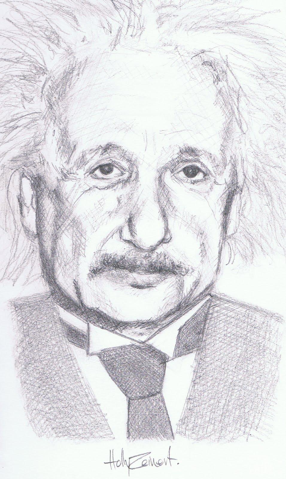 How To Draw Albert Einstein Step 2 | Apps Directories