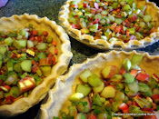 Rhubarb and Sweet Cicely Pies