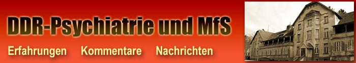 DDR-Psychiatrie und MfS