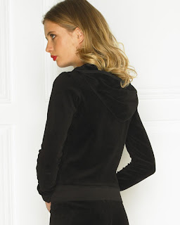 Juicy Black Velour Hoodie
