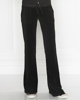 Juicy Black Velour Snap-Pant