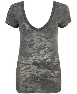Forever21 Basic V-Neck Burnout Tee
