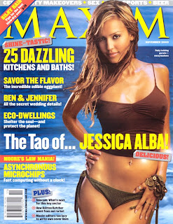 Jessica Alba in Ashley Paige Swimsuit on Maxim Cover