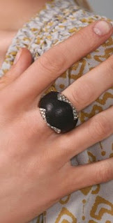 Nicole Richie House of Harlow 1960 Leather and Crystal Cocktail Ring